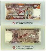 SINGAPORE Ship Series: Specimen $100 in official BCCS