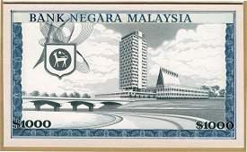 MALAYSIA 1st Series: RM1,000 1967 ESSAY