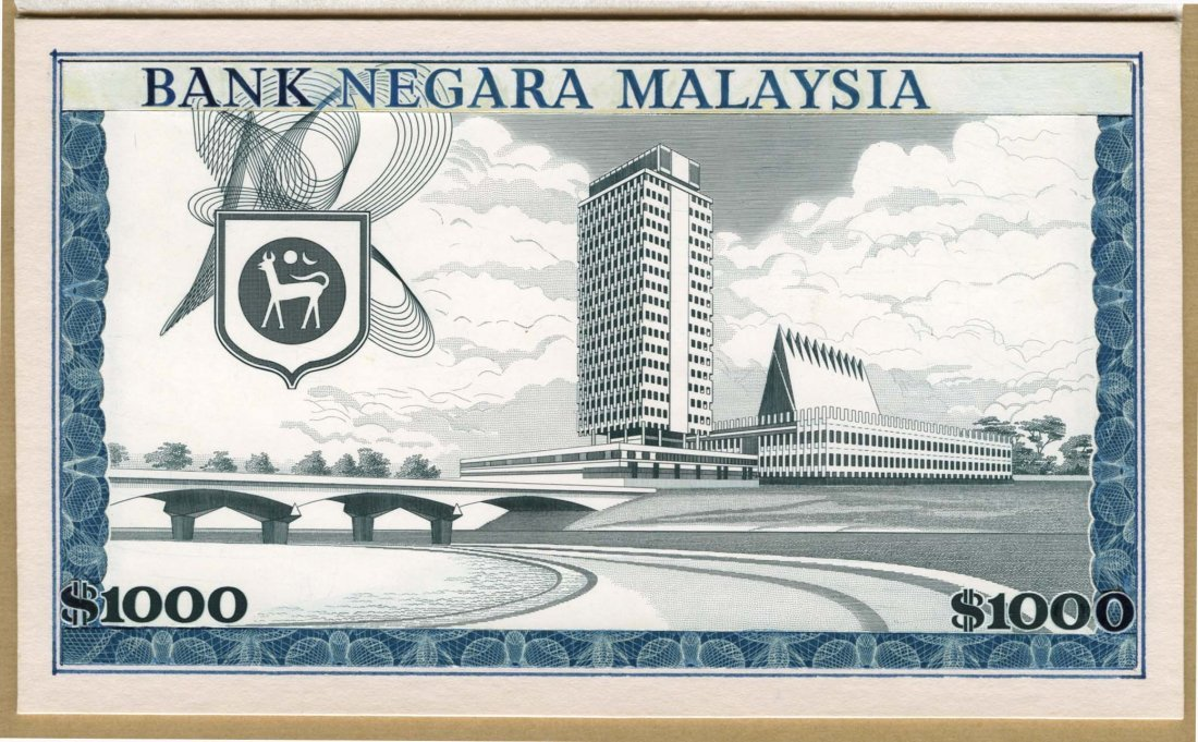 MALAYSIA 1st Series: RM1,000 1967 ESSAY