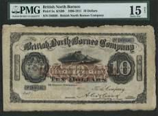 BRITISH NORTH BORNEO $10 4-Nov-09 Rare