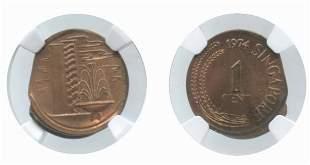 SINGAPORE Copper: 1-Cent 1974