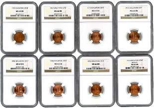 SINGAPORE Bronze: 1-Cent various