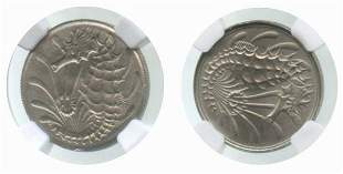SINGAPORE Cu-Ni: 10-Cents ND