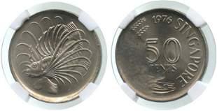 SINGAPORE Cu-Ni: 50-Cents 1976
