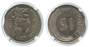SINGAPORE Cu-Ni: $1 1967