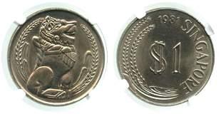 SINGAPORE Cu-Ni: $1 1981