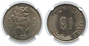 SINGAPORE Cu-Ni: $1 1970