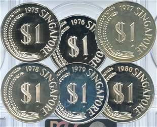 SINGAPORE Silver: $1 various