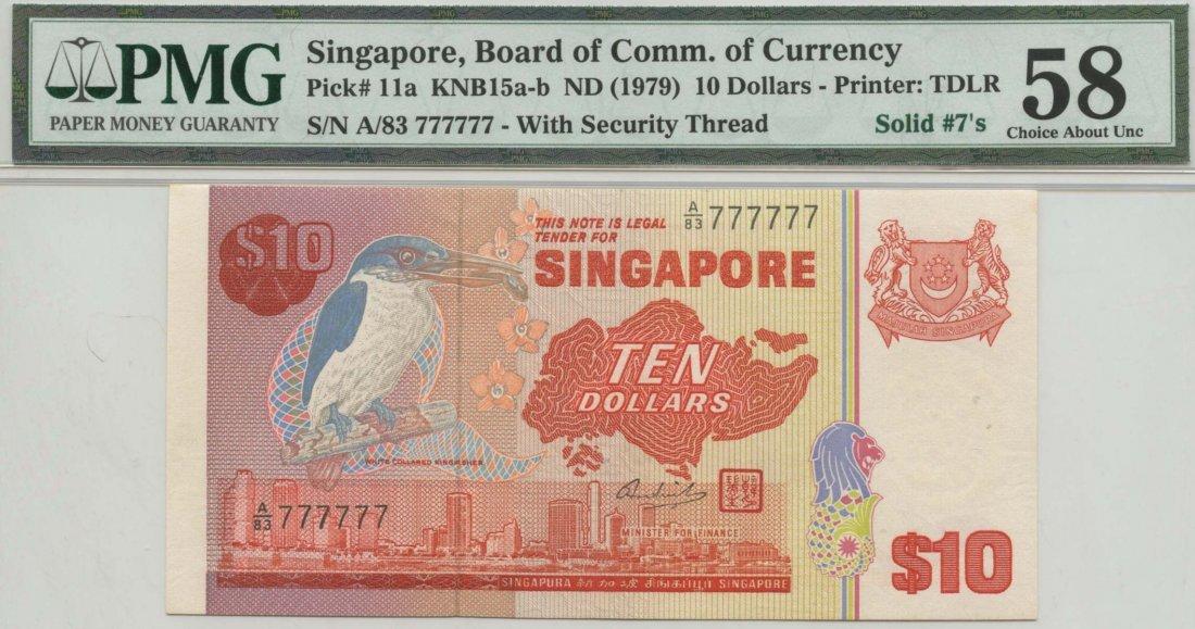 SINGAPORE Bird Series: $10 (1979)