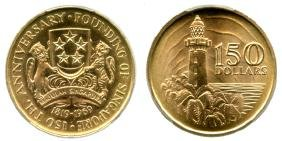 SINGAPORE Gold: $150 Founding of Singapore
