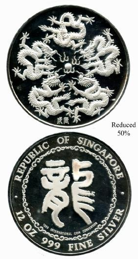 SINGAPORE Silver: Medal Singapore International Coin