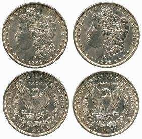 USA Morgan Dollar: Silver Dollar 1888 and 1896  (2pcs)