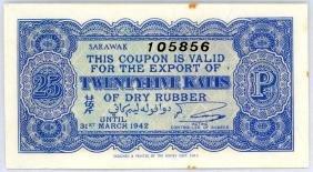 SARAWAK 25-Katis 1942 s/n. 105856
