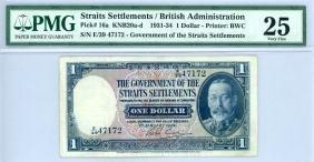 STRAITS SETTLEMENT  $1 1934 s/n. E/39 47172