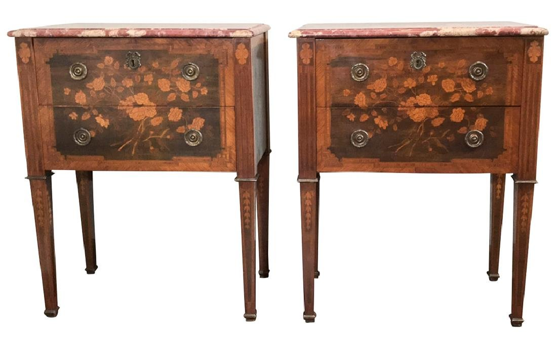 Nice Pair Of Italian Neo Classical Commodes