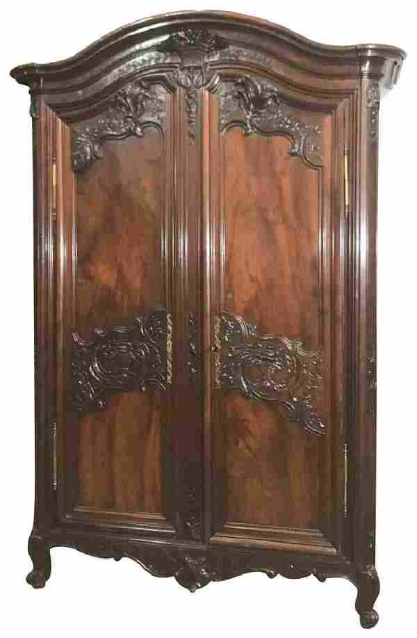 Very Fine 18 Th C. French Wedding Armoire,