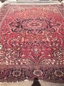 "Antique Heriz Carpet, 13'2 X 9'8"", Good"