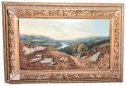 Large English Landscape, Oil On Canvas, Framed