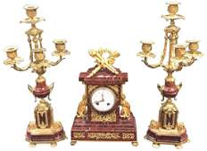 French King's Marble And Dore Bronze G