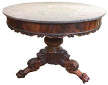 French Charles Xv Mahogany Center Table