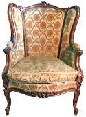 French Louis Xv Walnut Bergere 19 Th C