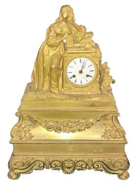 a 19th cfrench dore bronze mantle clock - Mantle Clock