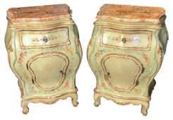 Great Pair Of Venetian Bedside Cupboards,