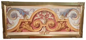 A 19 Th C. French Oil Panel, Classical Design,
