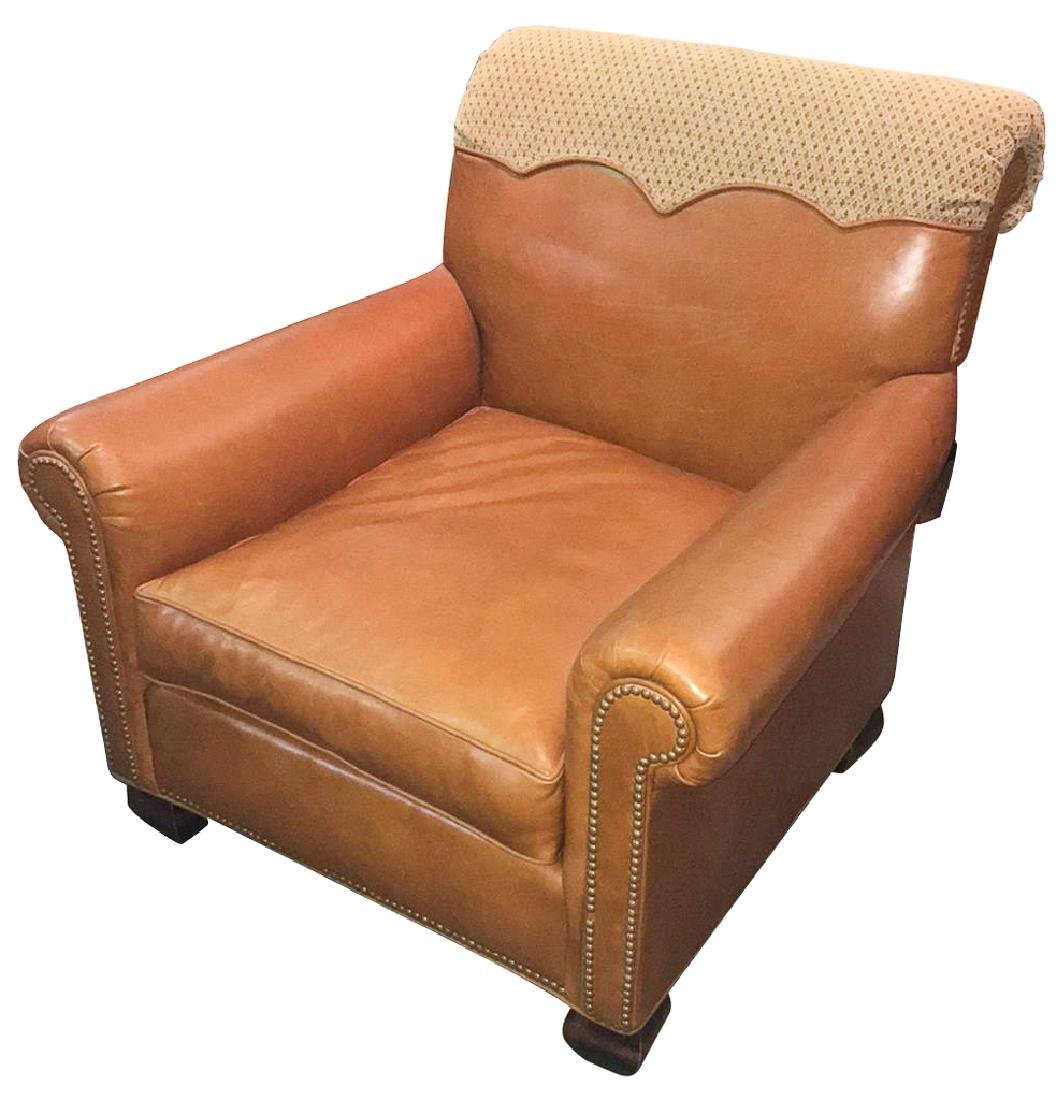 Nice Quality Leather Upholstered Club Chair,