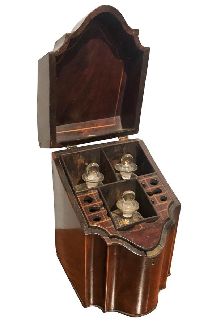 . Georgian Mahogany Liqueur  Box, With