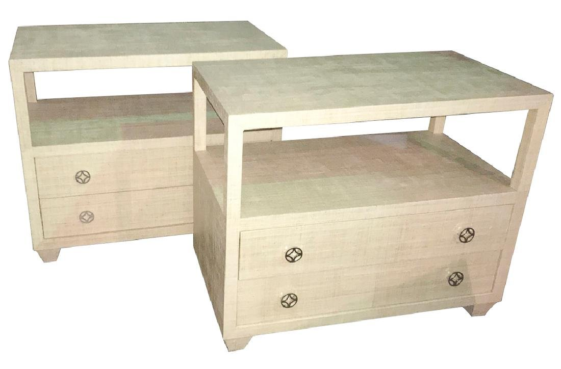 Good Pair Of Bernhardt Side Chests With Full