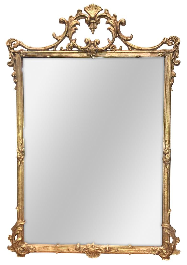 English Chippendale Style Goldleaf Mirror