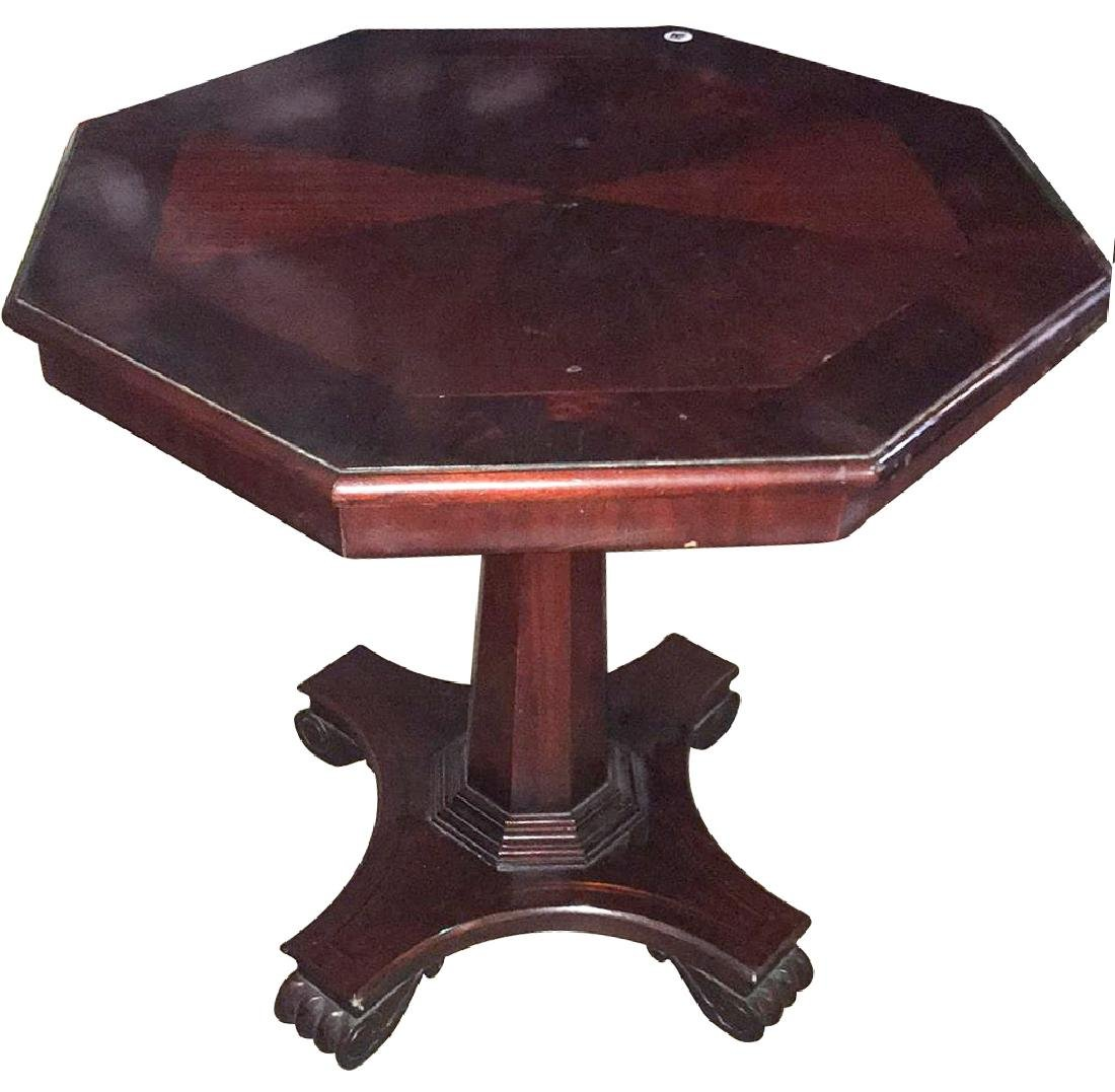 Nice Quality Mahogany Octagonal Salon Table