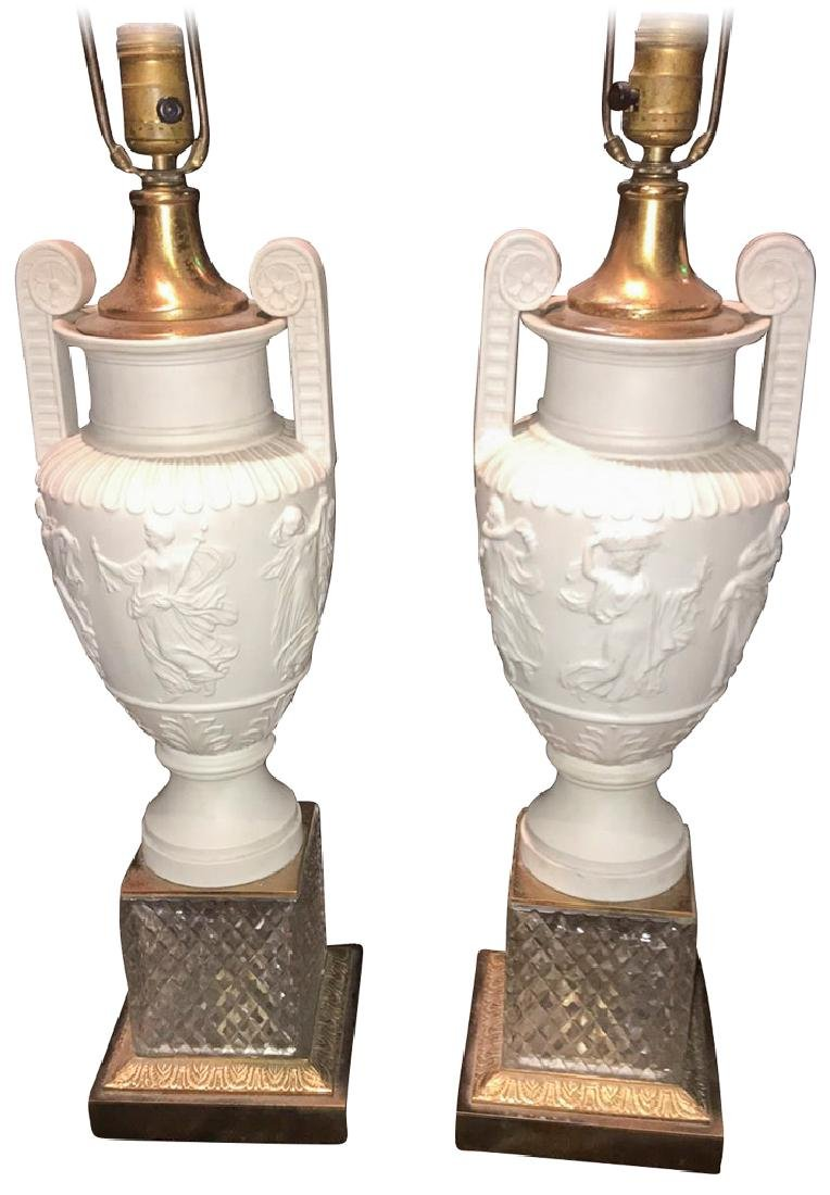 Pair Of French Empire Design Blanc De Chin