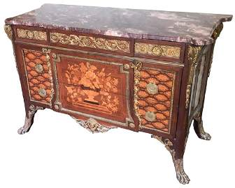 Very Fine French Transitional Commode, With