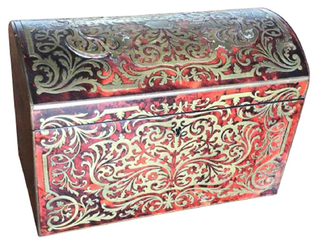 Very Fine French Boulle Trinkets Box Or Tea