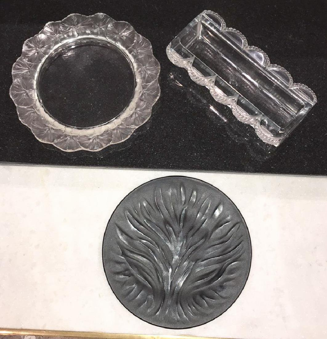 Three Pieces Of French Lalique Crystal,