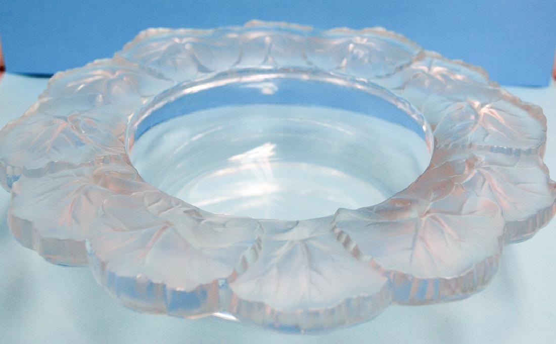 """Lalique Crystal """"honfleur"""" Bowl,"""