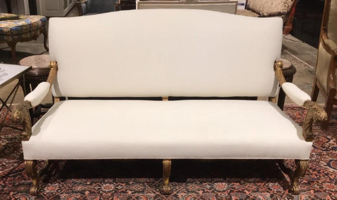 Fabulous French Louis Xiv Sofa, Carved