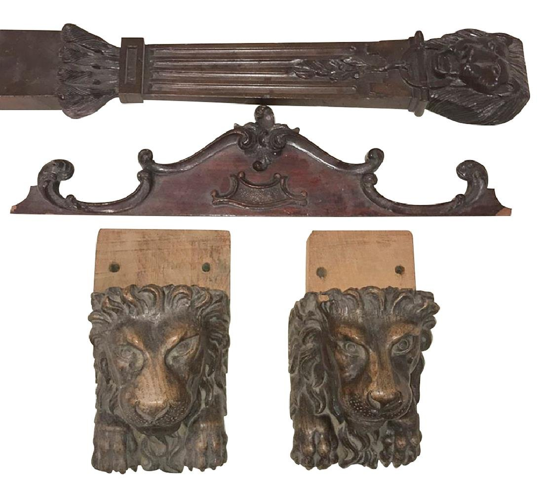 Four  Architectural Elements, Antique Carved