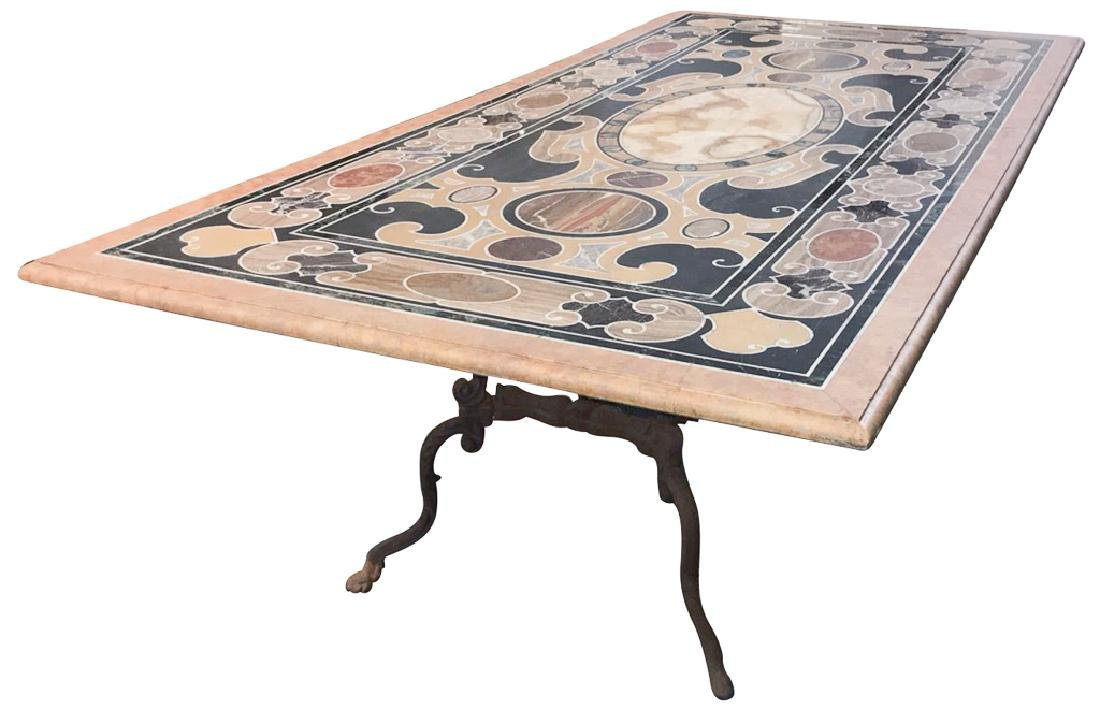 Fabulous Specimen Marble Table, Italian