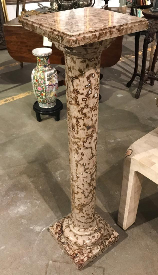 Unusual Marble Pedestal - 3