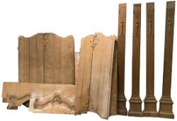 Set Of 4 Carved Columns With Paneling