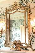 19th C French Carved Giltwood Mirror
