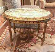 French Louis Xvi Style Giltwood Side Table