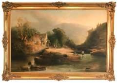 19th C. Continental School Oil On Canvas