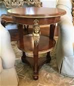 French Empire Mahogany Side Table