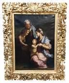 18th C. Italian Oil On Canvas Religious Scene