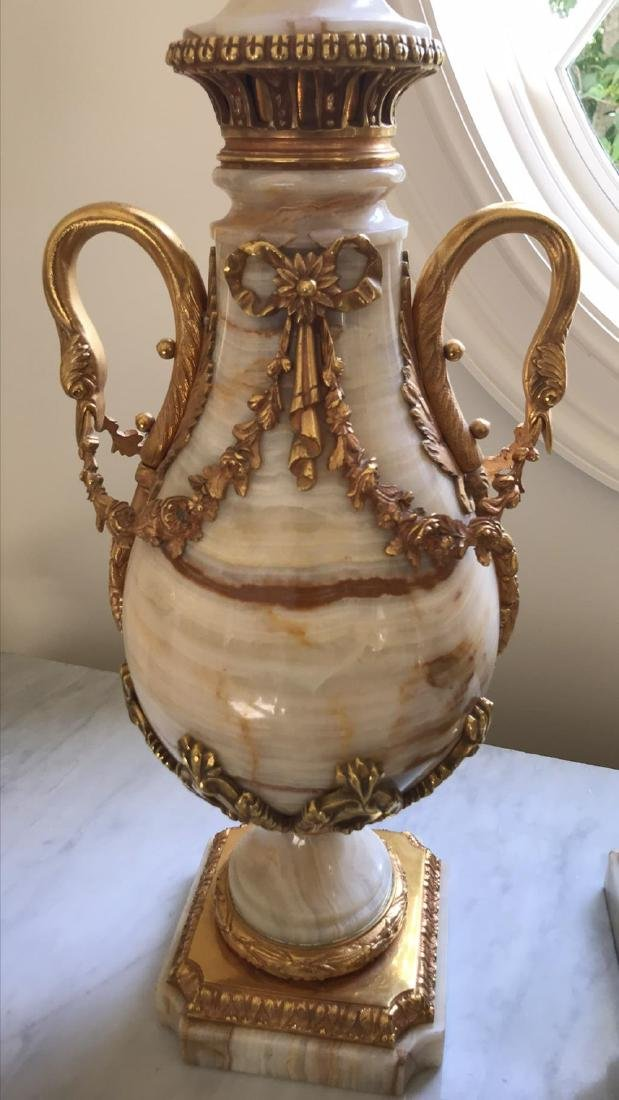 Fine Pair Of 19th C. French Onyx Cassollette - 2
