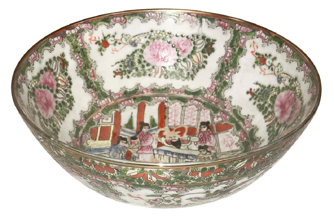 Chinese Rose Medallion Chow Bowl,